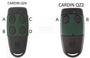 Telecommande cardin s449 qz2 green for Bip garage cardin